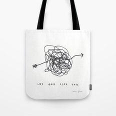 life goes like this Tote Bag