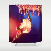 chandelier Shower Curtains featuring Lady Chandelier by Ginger Del Rey