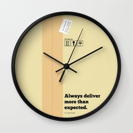 Lab No. 4 - Always Deliver More Than Expected Motivational Typography Quotes Poster Wall Clock
