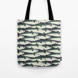 Mackerel fish close up Tote Bag
