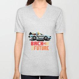 Back to the future: Delorean Unisex V-Neck