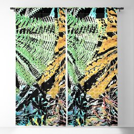Tropical forest abstract digital painting Blackout Curtain
