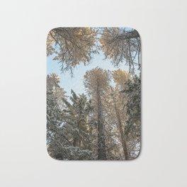 sky trees Bath Mat