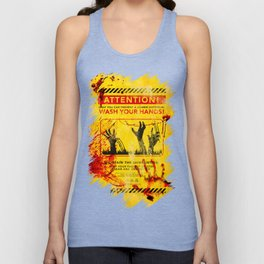 Prevent Zombie Outbreak: Wash your hands! Unisex Tank Top