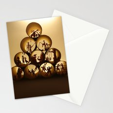 Pyramid of rolls 1 (Pyramide des rouleaux 1) Stationery Cards