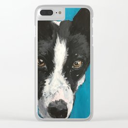Enzo a Basenji Clear iPhone Case