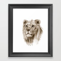 A Lion :: Without Pride Framed Art Print