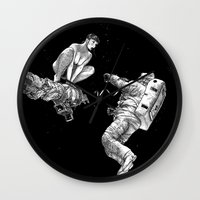 apollonia Wall Clocks featuring asc 578 - La séparation (Cutting the cord) by From Apollonia with Love