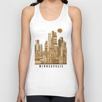 minneapolis Tank Tops featuring Minneapolis skyline by bri.buckley