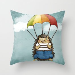 The Brave Hedggie Throw Pillow