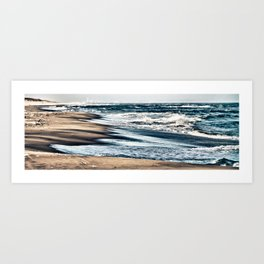 Waves on the Beach Art Print