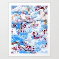 sakura Art Prints featuring SAKURA by sametsevincer