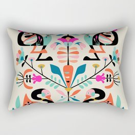 Rabbit folk art Rectangular Pillow