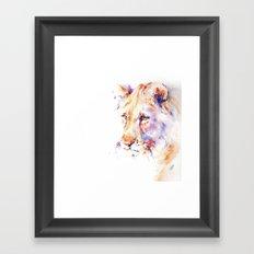 Patience . Lion Framed Art Print
