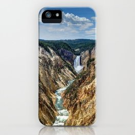 Grand Canyon of Yellowstone River and Lower Falls from Artist Point iPhone Case