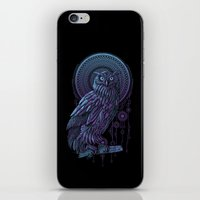 nouveau iPhone & iPod Skins featuring Owl Nouveau II by Jorge Garza