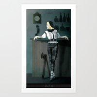 The Hatchet League  - Anca Art Print
