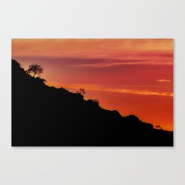 Countryside Sunset Landscape Scene, Lavalleja Department, Uruguay Canvas Print