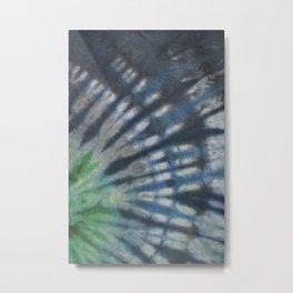 Tie Dye in Blue and Green 16 Metal Print