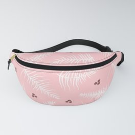 Fronds & Berries on Dusty Pink Fanny Pack