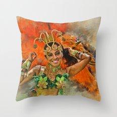 Carnival Queen Throw Pillow