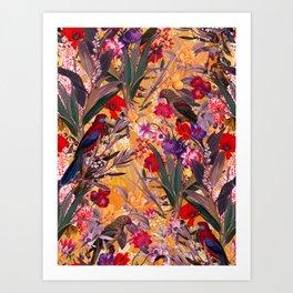 Floral and Birds XXVIII Art Print