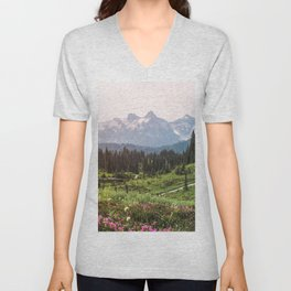 Mountain Wildflower Hiking Highs - 74/365 Unisex V-Neck