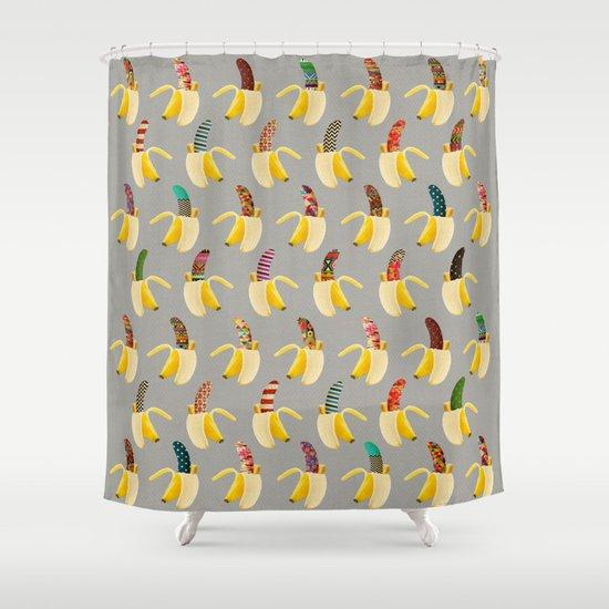 Anna Banana Shower Curtain