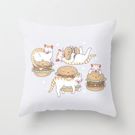 Cat burgers Throw Pillow