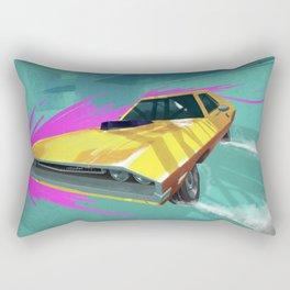 1970 Dodge Challenger Drift Rectangular Pillow