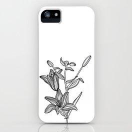Lily Botanical Illustration iPhone Case