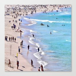 Sand X Sea Canvas Print