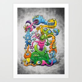 Monstrously Messy Art Print