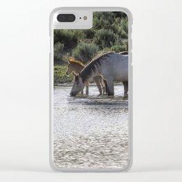 Reaching the Waterhole Clear iPhone Case