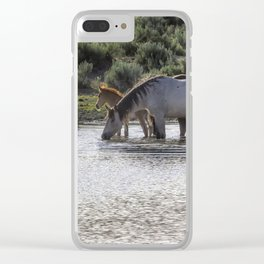 Reaching the Waterhole Clear iPhone Case