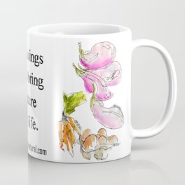 Fresh I: a watercolor of the bounty at Quebec City's farmers' market Coffee Mug
