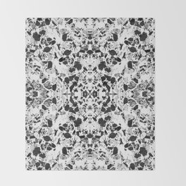 Beautiful Black and White Terrazzo Tile Throw Blanket
