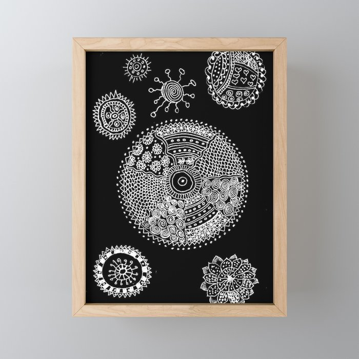 Energy of Orbs Framed Mini Art Print