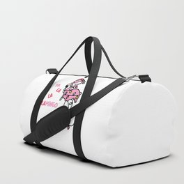 Christmas Flamingo Duffle Bag