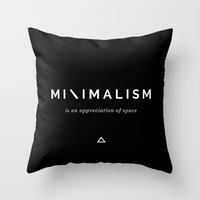 minimalism Throw Pillows featuring Minimalism by Alyssa Marie