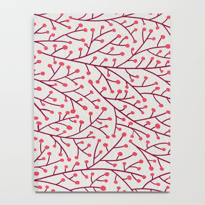 Pink Berry Branches Notebook