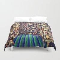 books Duvet Covers featuring Books by Whitney Retter