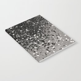 Silver Gray Glitter #1 #shiny #decor #art #society6 Notebook