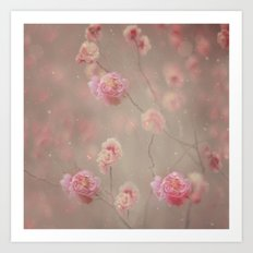 Rose, rose, red rose,  Rose in the heather... Art Print