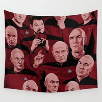 picard Wall Tapestries featuring Picard Day by Brian J. Smith