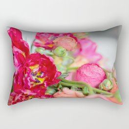 Fiery Red Flowers Rectangular Pillow