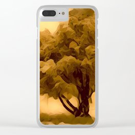 Sepia Juniper Tree by CheyAnne Sexton Clear iPhone Case