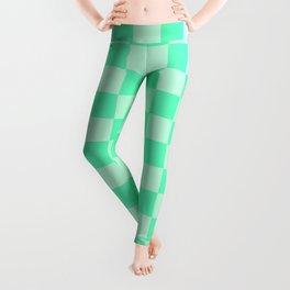 Mint Green Check Leggings