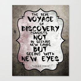 Marcel Proust about Voyage Famous Quote Canvas Print
