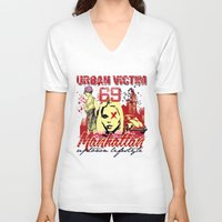 manhattan V-neck T-shirts featuring Manhattan  by Tshirt-Factory